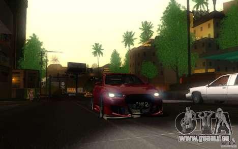 Mitsubishi Lancer EVO X drift Tune pour GTA San Andreas vue arrière