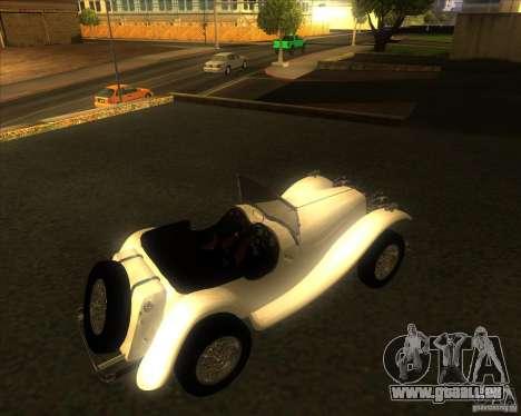 Jaguar SS 100 pour GTA San Andreas sur la vue arrière gauche