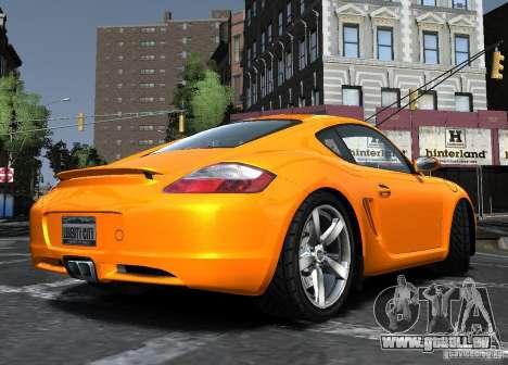 Porsche Cayman S1 für GTA 4 hinten links Ansicht