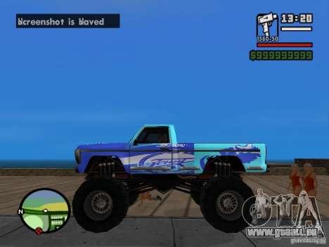 Ein Monster im Stil von FC ZENIT für GTA San Andreas linke Ansicht