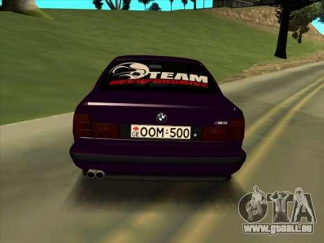 BMW M5 E34 NeedForDrive pour GTA San Andreas laissé vue