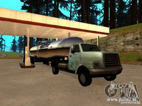 Yankee Truck für GTA San Andreas Rückansicht