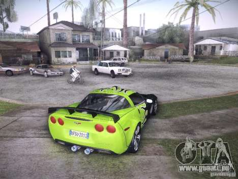 Chevrolet Corvette C6 Z06 Tuning pour GTA San Andreas vue de dessous