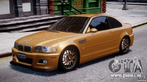 BMW M3 E46 Tuning 2001 v2.0 pour GTA 4
