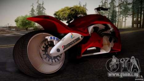 Predator Superbike pour GTA San Andreas laissé vue