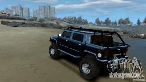 Hummer H2 4x4 OffRoad pour GTA 4 est un droit