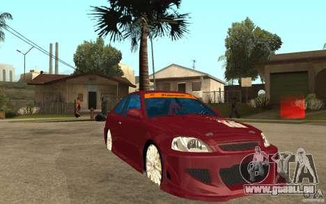 Honda Civic 1998 Tuned für GTA San Andreas Rückansicht