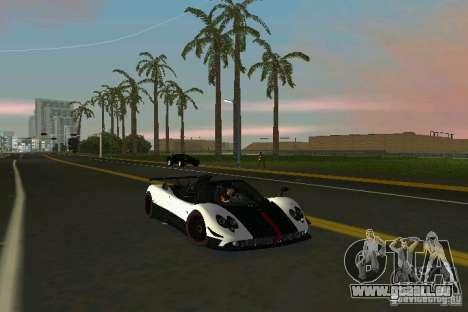 Pagani Zonda Cinque Roadster 2010 pour GTA Vice City sur la vue arrière gauche