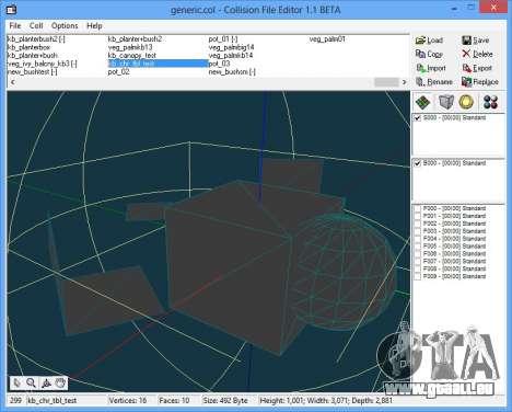 CollEditor 1.1beta GTA Vice City pour la troisième écran