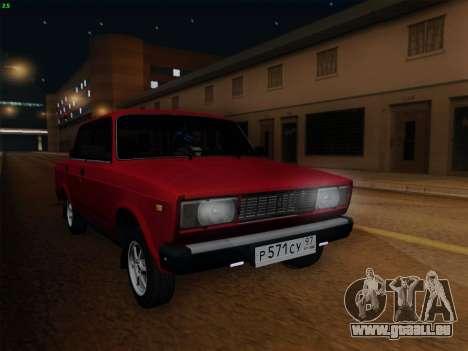 VAZ 21054 pour GTA San Andreas sur la vue arrière gauche