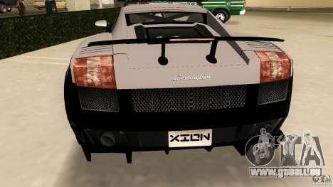 Lamborghini Gallardo Police pour GTA Vice City vue arrière
