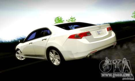 Acura TSX V6 pour GTA San Andreas laissé vue