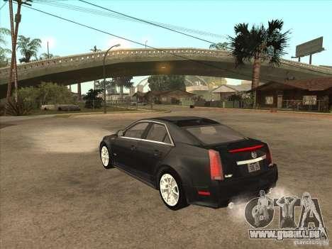 Cadillac CTS-V 2009 pour GTA San Andreas sur la vue arrière gauche