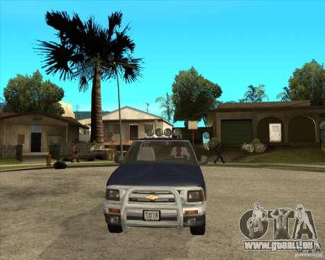 1996 Chevrolet Blazer pickup pour GTA San Andreas vue arrière