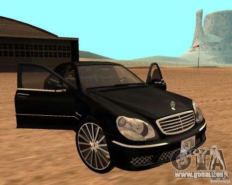 Mercedes-Benz S65 AMG W220 pour GTA San Andreas vue de droite