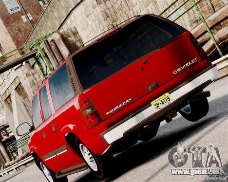 Chevrolet Suburban 2006 V1.1 CIVIL pour GTA 4 est un droit