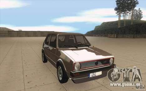 Volkswagen Golf Mk1 - Stock pour GTA San Andreas vue arrière