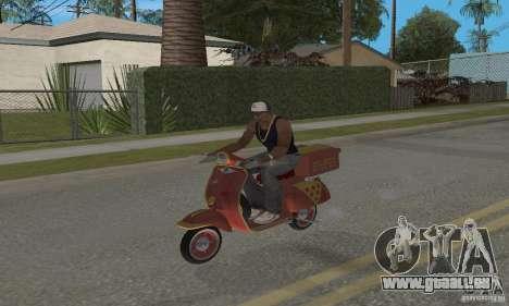 Vespa N-50 Pizzaboy pour GTA San Andreas sur la vue arrière gauche