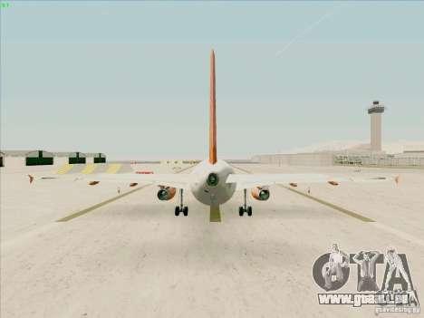Airbus A319 Easyjet für GTA San Andreas rechten Ansicht