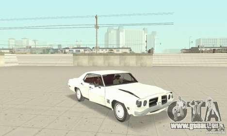 Pontiac LeMans 1971 pour GTA San Andreas vue intérieure