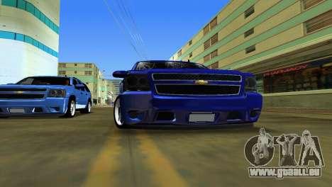 Chevrolet Tahoe 2011 pour une vue GTA Vice City de la droite