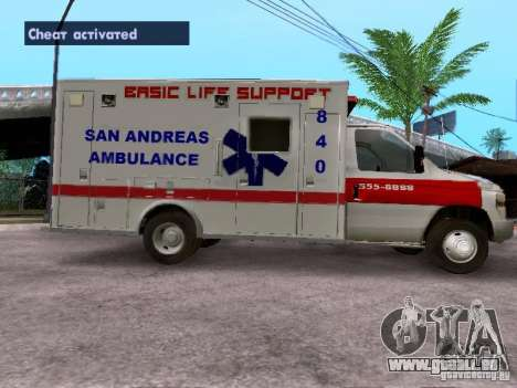 Ford E-350 Ambulance v2.0 für GTA San Andreas linke Ansicht