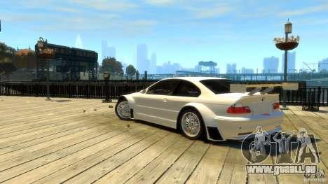 BMW E46 M3 GTR Sport pour GTA 4 est une gauche