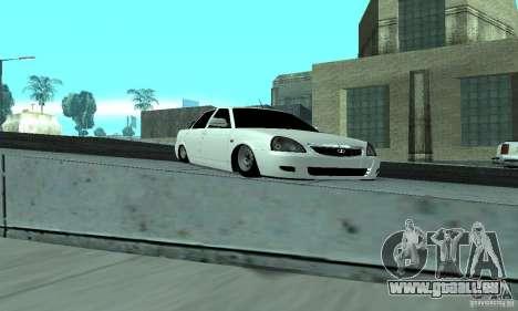 Lada Priora Low pour GTA San Andreas vue intérieure