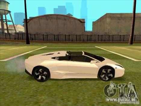 Lamborghini Reventon Convertible pour GTA San Andreas vue arrière