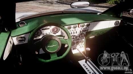 Spyker C8 Aileron v1.0 pour GTA 4 est une vue de l'intérieur