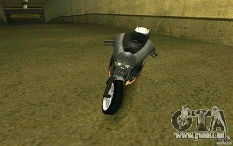 Moto de la ville de Alien pour GTA San Andreas laissé vue