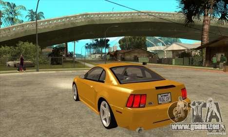 Ford Mustang GT 1999 - Stock pour GTA San Andreas sur la vue arrière gauche