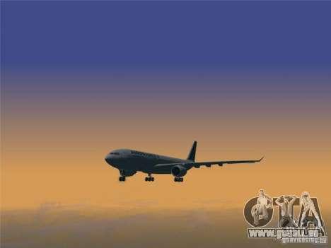 Airbus A330-200 Air France für GTA San Andreas zurück linke Ansicht