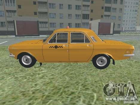 GAZ 24-01-Taxi für GTA San Andreas Rückansicht