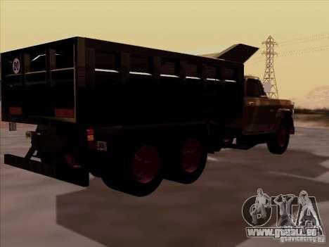 Dodge Dumper pour GTA San Andreas sur la vue arrière gauche