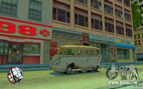Volkswagen T1 Bus 1967 für GTA 4 Unteransicht