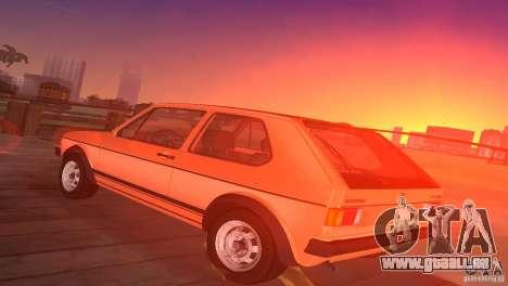 Volkswagen Golf Mk1 GTI pour une vue GTA Vice City de la gauche