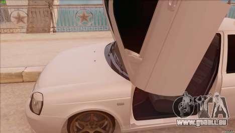 LADA 2170 Sport pour GTA San Andreas sur la vue arrière gauche