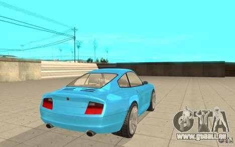 Comète de GTA 4 pour GTA San Andreas sur la vue arrière gauche