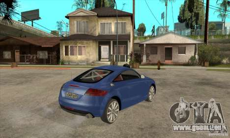 Audi TT 2007 pour GTA San Andreas vue arrière