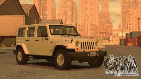 Jeep Wrangler Unlimited Rubicon 2013 pour GTA 4