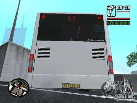 CityLAZ 12 LF pour GTA San Andreas sur la vue arrière gauche