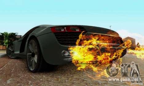 Audi R8 LeMans pour GTA San Andreas sur la vue arrière gauche