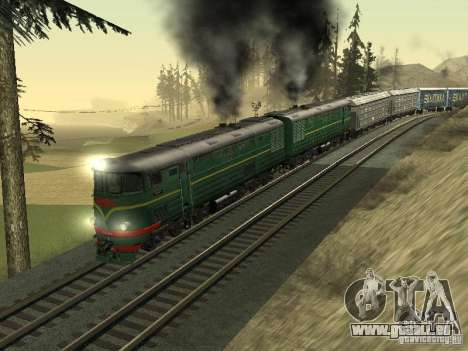 TE3 pour GTA San Andreas sur la vue arrière gauche