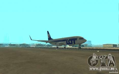 Boeing 737 LOT Polish Airlines für GTA San Andreas Innenansicht