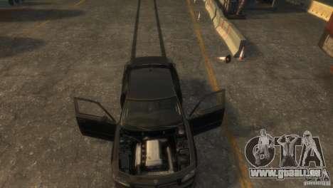 Dodge Charger Fast Five pour GTA 4 Vue arrière
