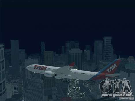 Airbus A330-223 TAM Airlines für GTA San Andreas obere Ansicht