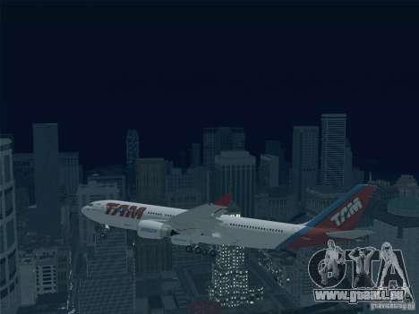 Airbus A330-223 TAM Airlines für GTA San Andreas obere Ansicht