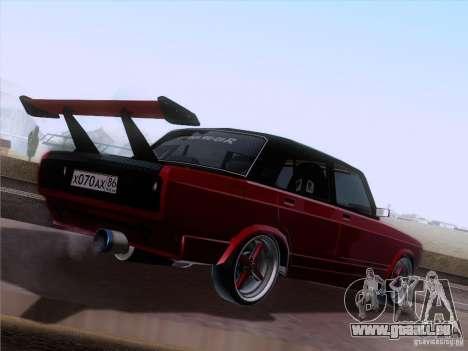 VAZ 2107 voiture Tuning pour GTA San Andreas vue de droite