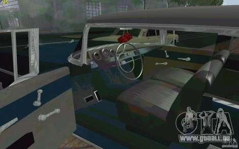 Chevrolet Bel Air 1957 pour GTA San Andreas vue arrière